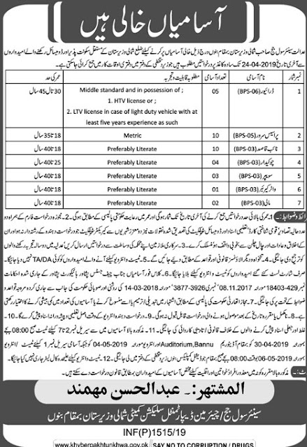North Waziristan Jobs 2019