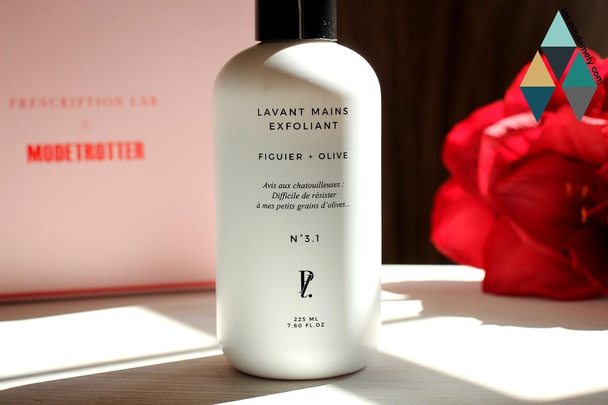 revue beauté soin lavant nourrissant exfoliant hydratant mains prescription lab
