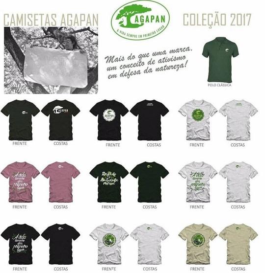 9de9cb9ad ... atua de forma 100% voluntária em defesa do meio ambiente, lançou uma  nova linha de camisetas temáticas. São cinco modelos em diversas cores e  tamanhos.