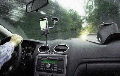 Navegador GPS en coche