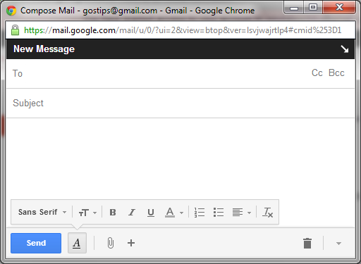 When You Open Gmail S Compose Box In A New Window