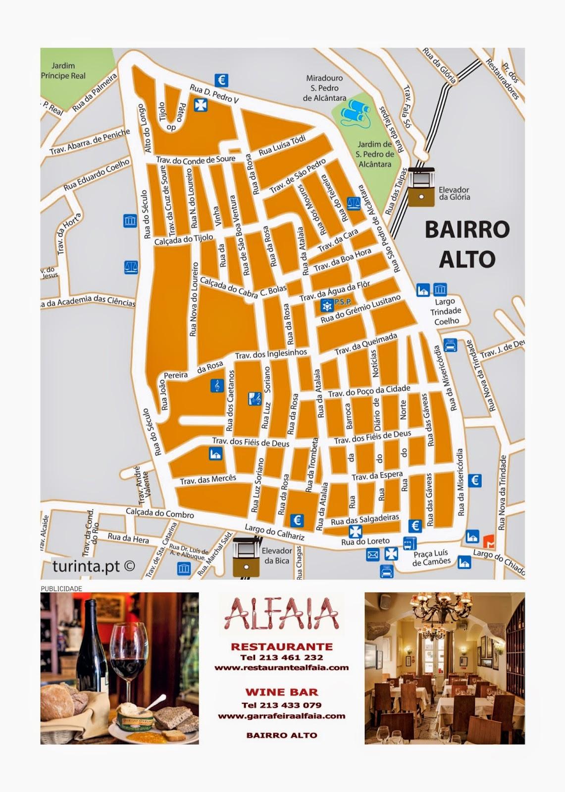 mapa do bairro alto lisboa ASSOCIAÇÃO DE COMERCIANTES DO BAIRRO ALTO: Outubro 2014 mapa do bairro alto lisboa