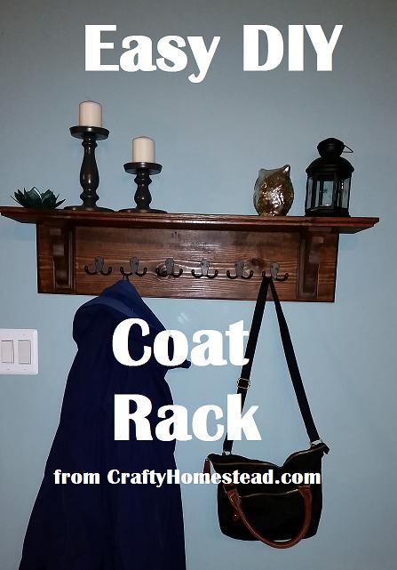Crafty Homestead Easy Diy Coat Rack