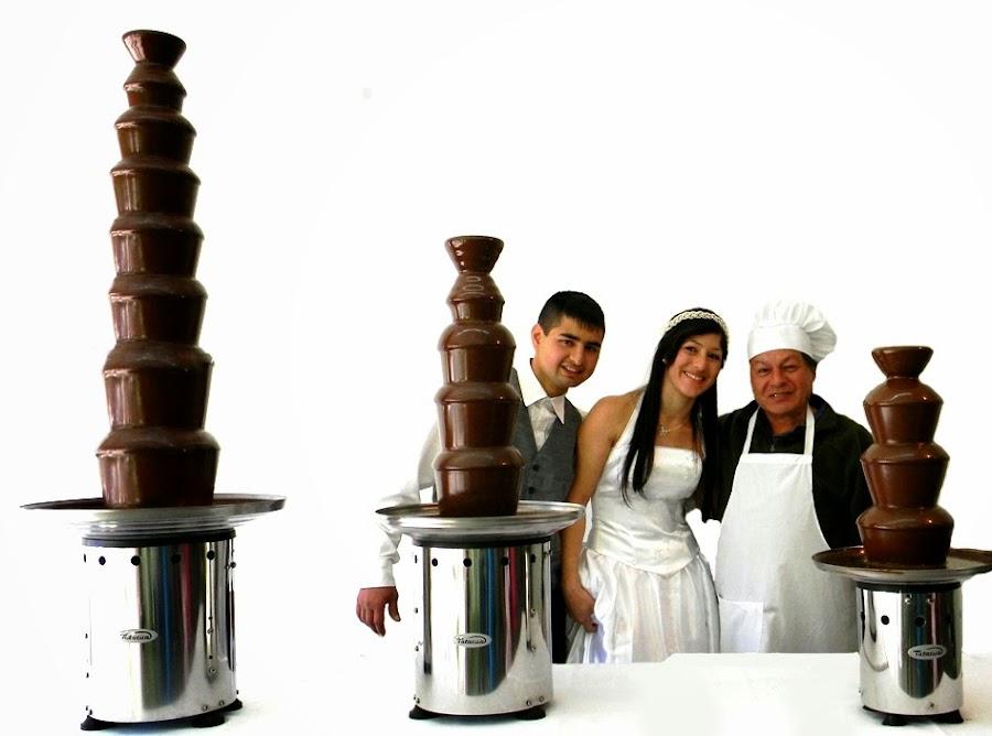 tres modelos de cascada de chocolate tatacua