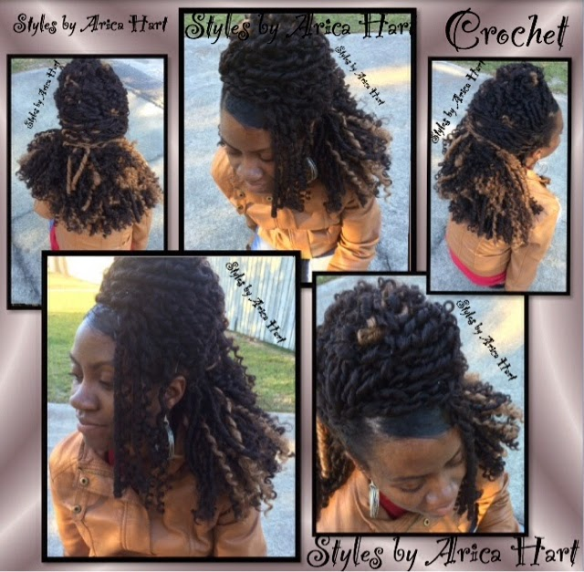 ... crochet styles Dread, strawset, & partial updo 3hair styles made
