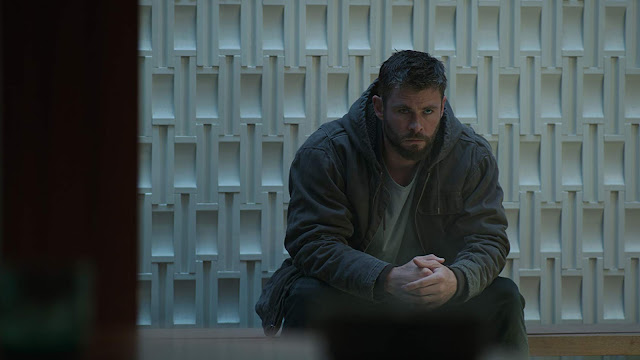 thor looking sad at avengers hq