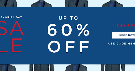 Indochino Memorial Sale: Get up to 60% off