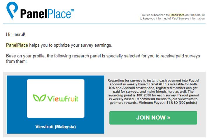 Kerja di Rumah Jawab Survey PanelPlace
