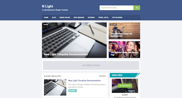 N Light - Blogger Template