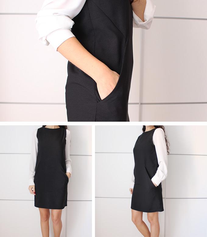 vestido-recto-con-bolsillos-diy