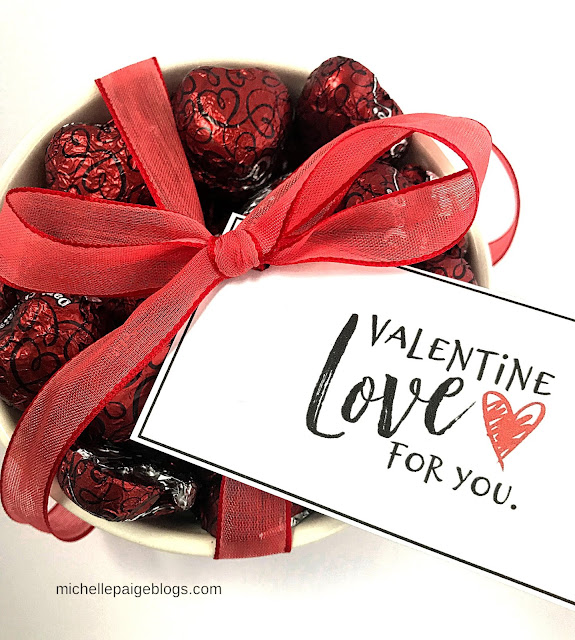 Free Printable Valentine Tags @michellepaigeblogs.com