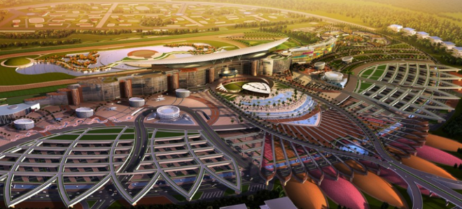 Meydan Race-course, Dubai World Cup,  horse race, view.