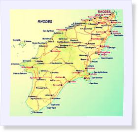 Rhodes, plan, Grèce, colosse de Rhodes, chevaliers, unesco, mer égée