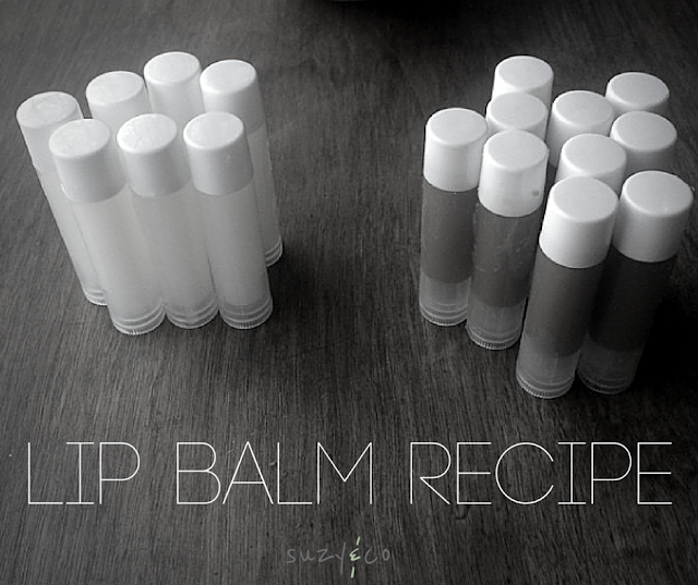 homemade lip balm recipe | suzyandco.com