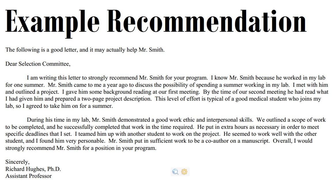 Sample Recommendation Letter 3000