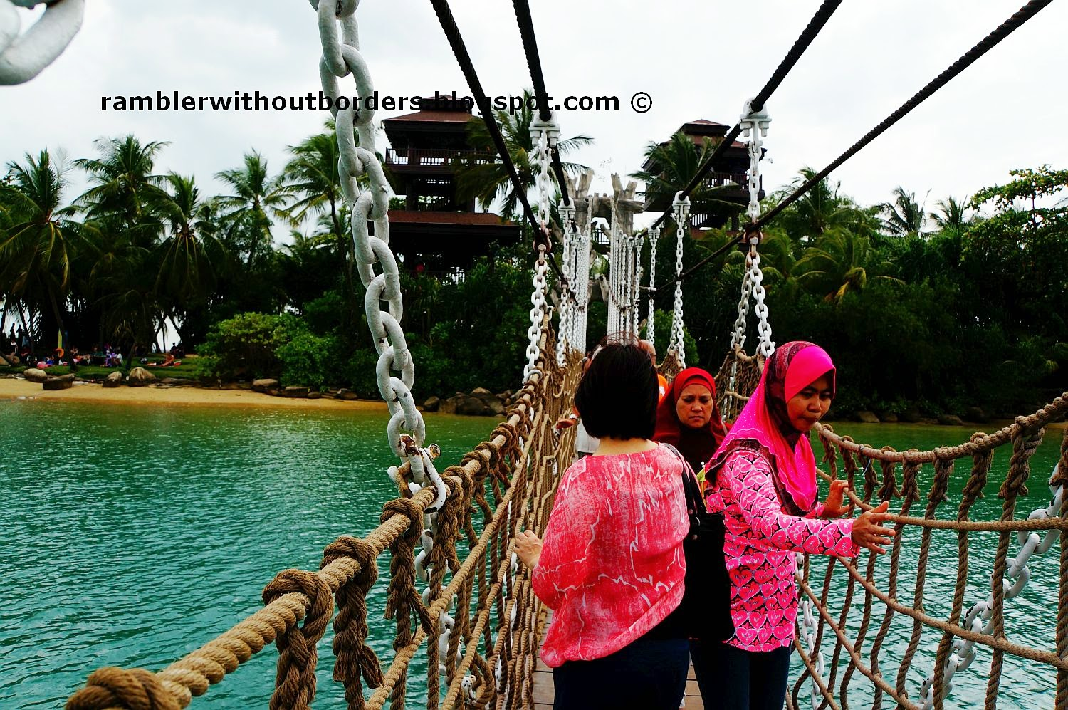Palawan Island Suspension bridge, Sentosa, Singapore
