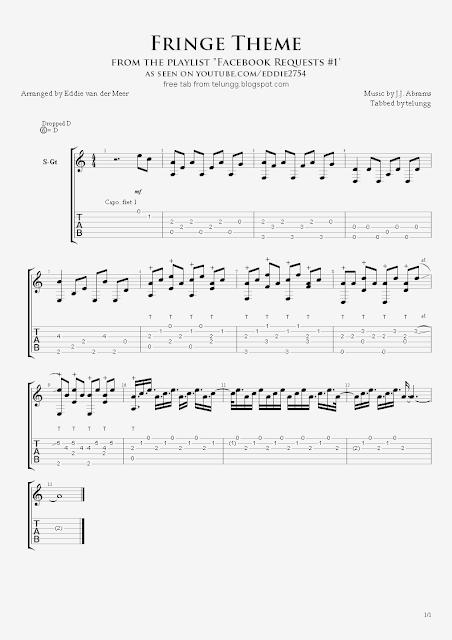 Guitar unravel guitar tabs : Hmmm: Fingerstyle Guitar Tabs - Fringe Theme