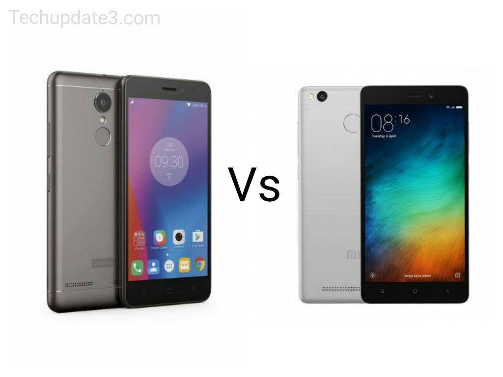Kết quả hình ảnh cho Lenovo K6 Power Vs Xiaomi Redmi 3s Prime Comparison