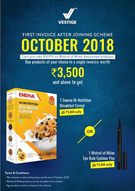 Vestige Re-Purchase Offer October 2018 for Distributors