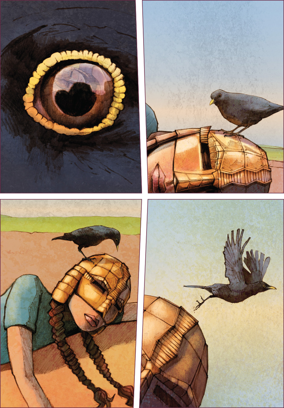 Lian Webcomic, The Tree of Life, chapter 2. Ousel looking at Lian