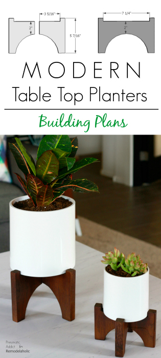 How to build a pair of modern, designer knock-off table top planters