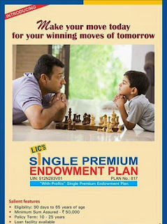 LIC New Single Premium Endowment Plan Table No 817