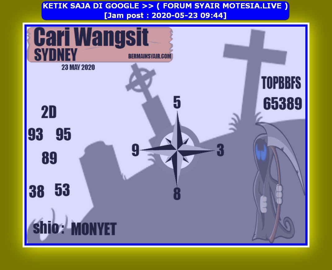 Kode syair Sydney Sabtu 23 Mei 2020 76