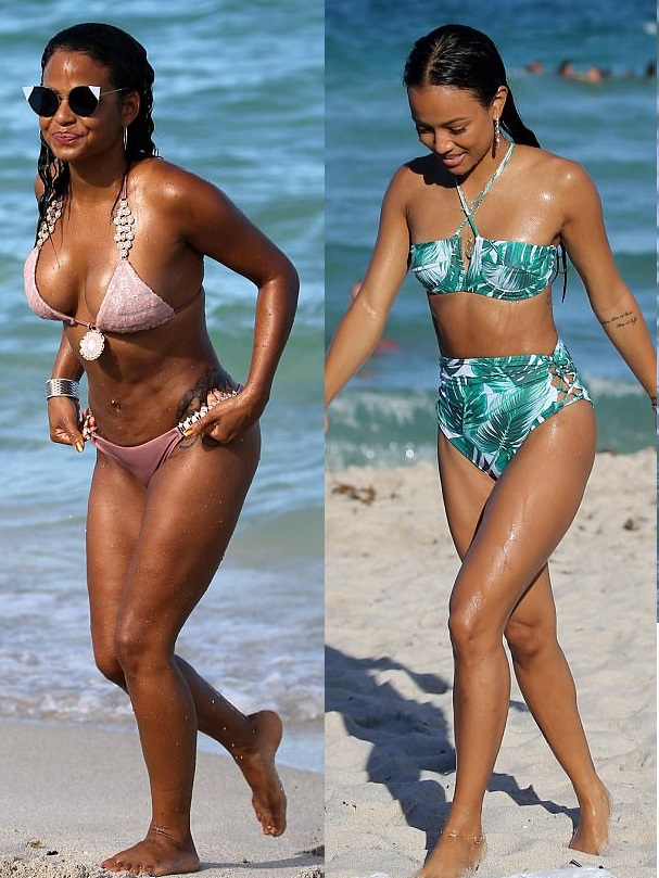 Christina Milian and Karrueche Tran take the beach by storm in a skimpy bikini