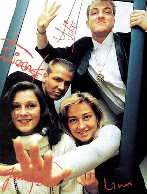 Foto de Ace of Base con nombres de sus integrantes