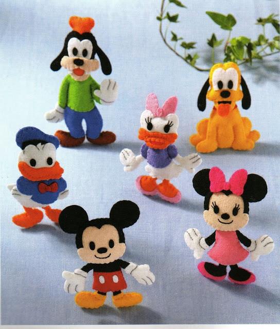 Disney Molde Feltro Mickey Pluto Minnie Pateta Donald Margarida