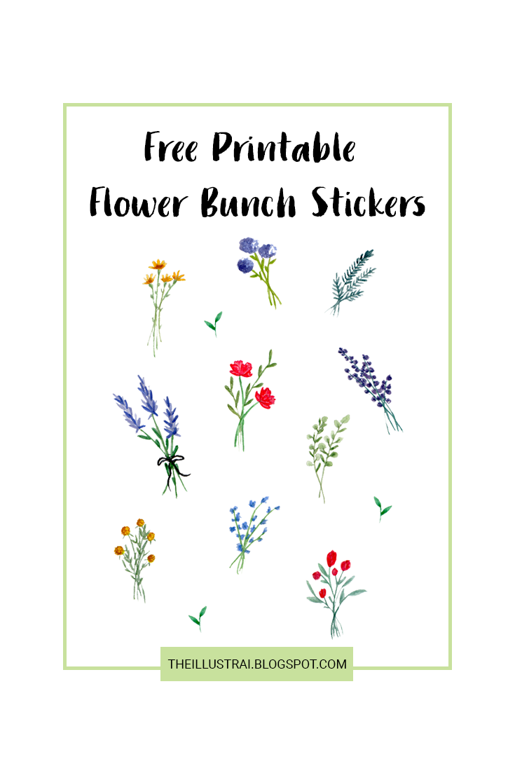 These free printable watercolor flower bunch stickers are perfect for adding a pretty and feminine touch to any project. Add them to your planners, snail mail, notebooks, scrapbooks, project life albums, and where ever else you'd like! There are 13 stickers and 11 different designs. Click through to download the free stickers!