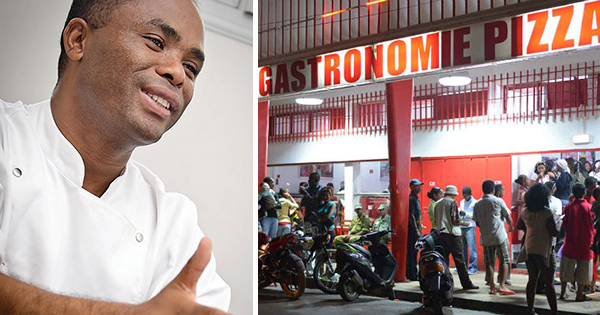 Chef Mbinina, founder of Gastronomie Pizza in Madagascar