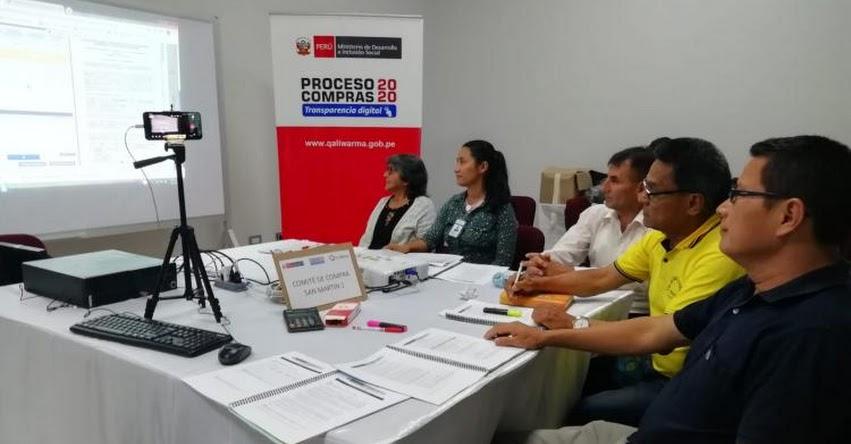 QALI WARMA: Programa social en la región San Martín invita a posibles postores a registrarse en plataforma virtual para participar en Proceso de Compras 2020 - www.qaliwarma.gob.pe