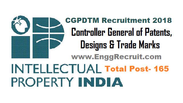 CGPDTM Recruitment 2018