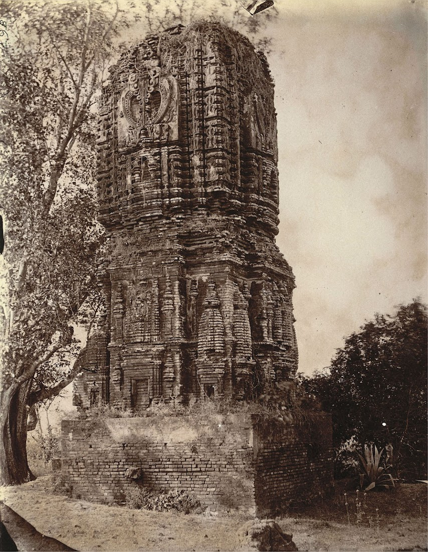 Brick Temple Known as Durga Temple at East of the Village of Para, Manbhum District (Now in Purulia District), Bengal - 1872