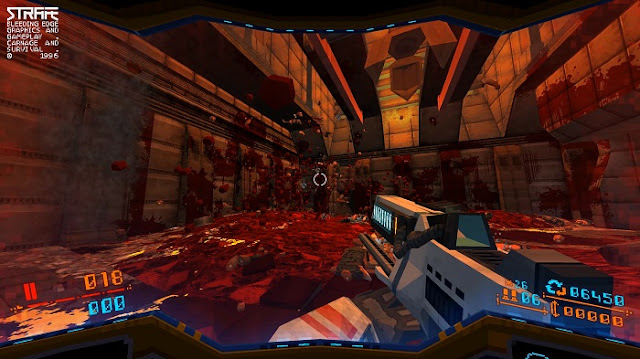 Strafe Review, graphics are like 1990's game such as Doom
