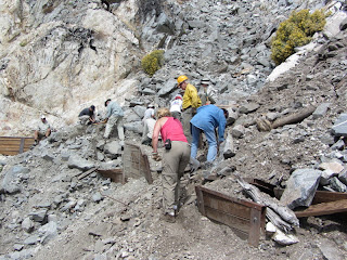 Trailbuilders repairing damage on Wendy Gap Trail