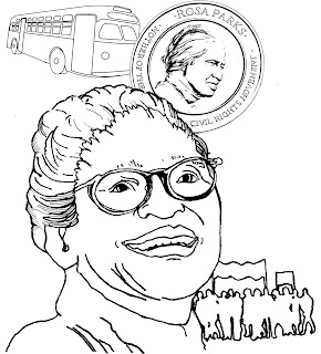 of rosa parks for the educational coloring book remembering the ladies from patriots in petticoats to presidential candidates telling her stories