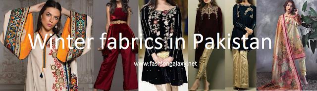 winter fabrics in Pakistan