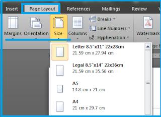 Cara Mengatur Ukuran Kertas Page Layout