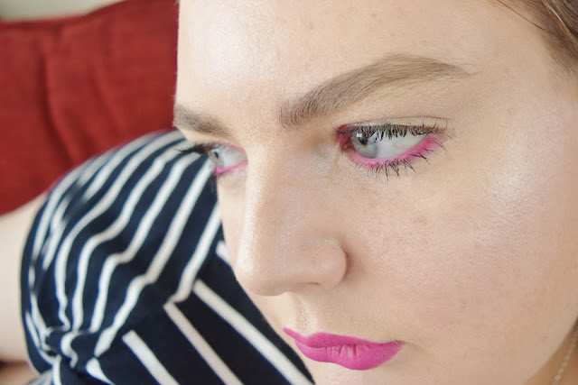 fuchsia makeup look