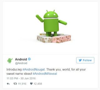nama android n adalah nougat