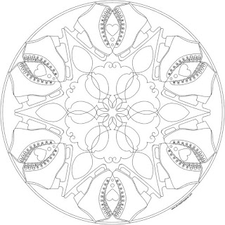 figure skating mandala to print and color- available in jpg and transparent png formats #coloringpage #mandala #figureskating