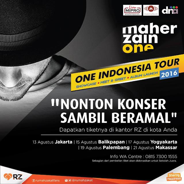 Maher Zain, One Indonesia Tour 2016