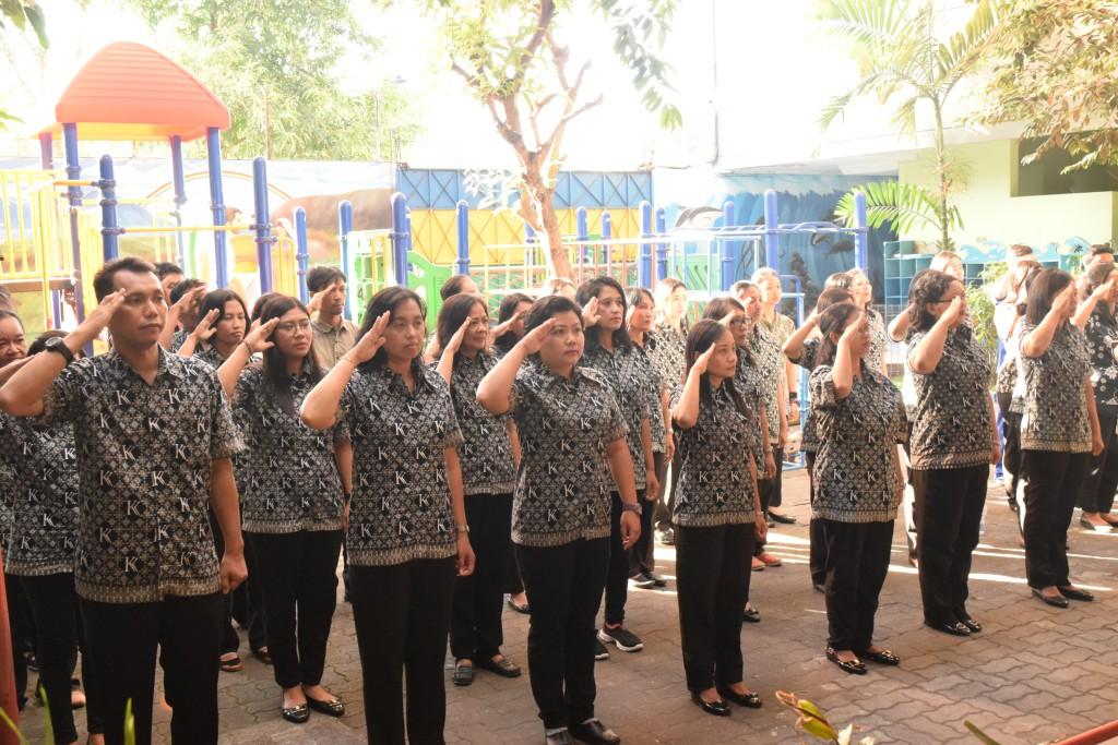 KB-TK Kalam Kudus Surakarta Peringati Hari Lahirnya Pancasila