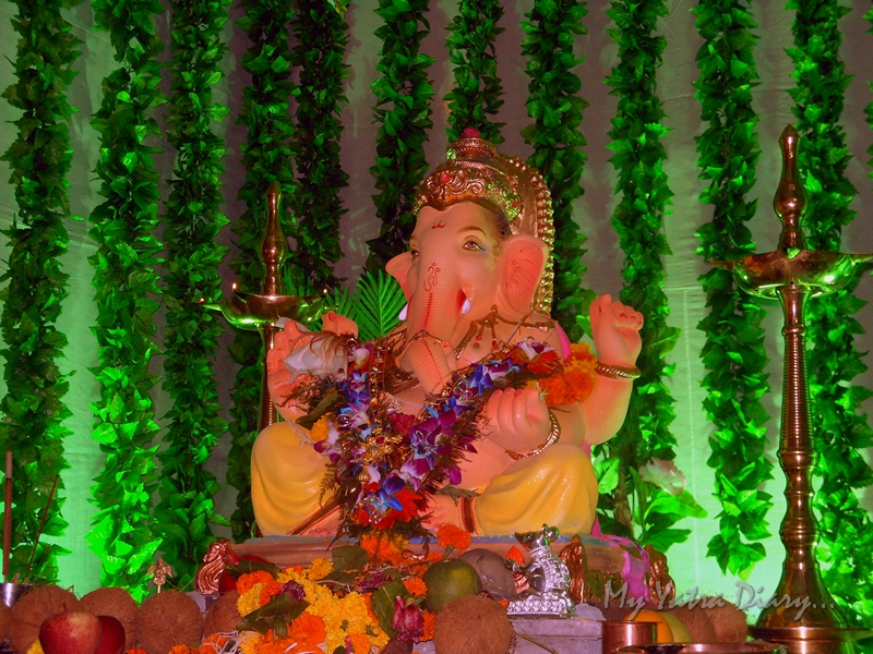 Lord Ganesha in a garden of green, Ganesh Pandal Hopping, Mumbai