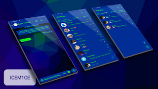 Blue Green Theme For YOWhatsApp & Fouad WhatsApp By Whats Plus