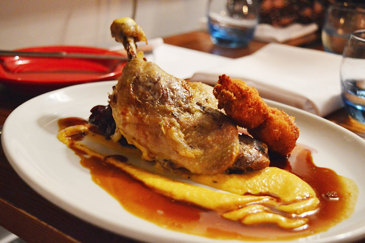 Duck Confit, The Three Cups in Stockbridge review, food bloggers UK