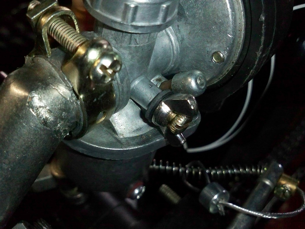 hight resolution of idle screw with wingnut and rubber washer adaption