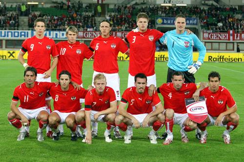 Formación de Austria ante Chile, Turnier der Kontinente 2007, 11 de septiembre